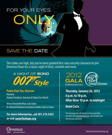 For your eyes only gala, a night of James Bond - 007 style